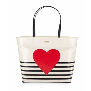 Kate Spade NY Hallie Heart and Stripe Tote $198